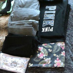 PINK victoria's secret yoga pants bundle